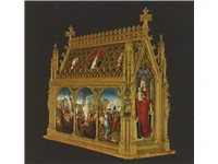 St Ursula Shrine by Hans Memling (1489) Gilded and painted wood, 87 x 33 x 91 cm Memlingmuseum, Sint