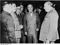Josef Stalin, Harry S. Truman and Winston Churchill in Potsdam, July 1945