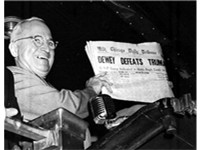 Truman was so widely expected to lose the 1948 election that the Chicago Tribune ran this incorrect