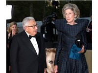 Henry and Nancy Kissinger at the Metropolitan Opera opening in 2008