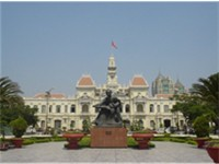 Ho Chi Minh City Hall and Statue of Ho Chi Minh