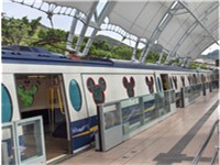 Disneyland Resort Line of the Hong Kong MTR carrying passengers to Hong Kong Disneyland