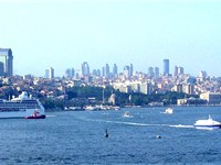 A Seabus (right) on the Bosporus in Istanbul.