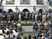 White House ceremony honoring the Super Bowl Champion Indianapolis Colts.