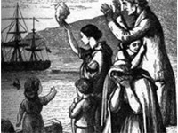 Emigrants Leave Ireland, an engraving by Henry Doyle depicting the emigration to The United States b