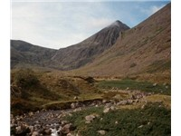 Carrauntoohil, the highest peak in Ireland, located in Macgillycuddy's Reeks