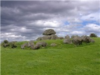 Stone age passage tombs at Carrowmore, County Sligo