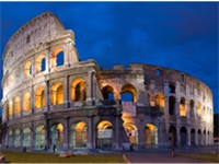 The Colosseum in Rome, perhaps the most enduring symbol of Italy.