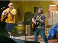 Jack Black with Kyle Gass of Tenacious D.