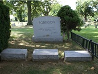 Robinson's family gravesite in Cypress Hills Cemetery. Robinson is buried alongside his mother-in-la