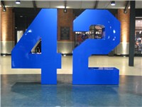 Memorial in the Jackie Robinson Rotunda inside Citi Field, dedicated April 15, 2009