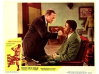 Lobby card for The Jackie Robinson Story, 1950, with Minor Watson (left, playing Dodgers president B