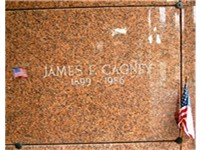 The crypt of James Cagney in Gate of Heaven Cemetery