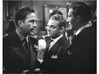 Humphrey Bogart with Cagney and Jeffrey Lynn in The Roaring Twenties (1939), the last film Bogart an
