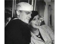 Cagney and Gloria Stuart in 1934's Here Comes the Navy. The movie was filmed on the ill-fated, USS A