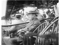 Sherman at a baseball game in 1912. He was the first Vice President to throw out the ceremonial firs