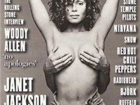Janet Jackson featured on the cover of Rolling Stone with the hands of her then-unknown husband Ren