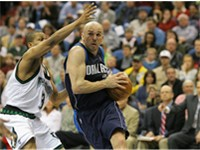 Kidd drives to the basket during a game against the Minnesota Timberwolves.