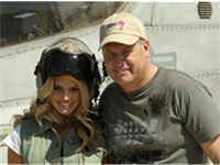 Jessica Simpson with her father and manager, Joe Simpson