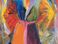 'The Robe Following Her - 4', oil on canvas painting by Jim Dine, 1984-5