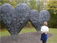 Two Big Black Hearts, 1985, at the DeCordova Museum.