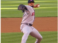 Santana pitching for the Twins on June 2, 2006