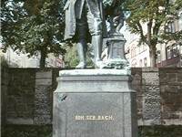 Since being moved in 1938, the Donndorf statue of Bach now stands in the Frauenplan in Eisenach. The
