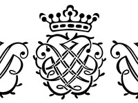 Bach's seal, used throughout his Leipzig years. It contains the letters J S B superimposed over thei