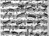 Violin Sonata No. 1 in G minor (BWV 1001) in Bach's handwriting