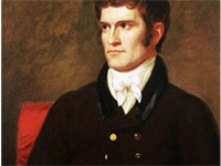 An 1822 portrait of John C. Calhoun, aged 40