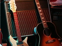 Lennon's guitars.