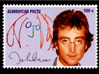 1995 stamp of John Lennon from Azerbaijan
