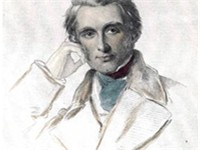 Coloured engraving of Ruskin