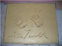 His handprints in front of The Great Movie Ride at Disney's Hollywood Studios theme park