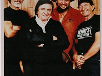 From left to right Kris Kristofferson, Johnny Cash, Waylon Jennings, Willie Nelson, who formed the c