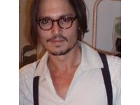 Depp backstage at the Ahmanson Theatre on December 31, 2006