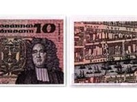 Swift as depicted on the Irish  10 banknote, issued 1976--1993.
