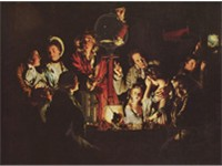 An Experiment on a Bird in the Air Pump, by Joseph Wright, 1768, National Gallery, London