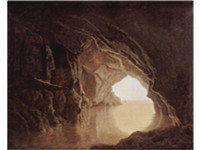 Cave at evening, by Joseph Wright, 1774, Smith College Museum of Art, Northampton, Massachusetts