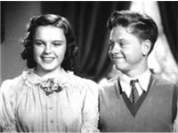 Garland with Mickey Rooney in Love Finds Andy Hardy (1938)