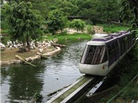 Pelican Cove, with a Panorail monorail train.