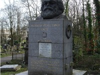 Karl Marx's Tomb at Highgate Cemetery London