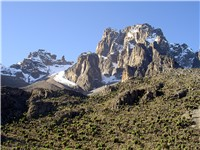 Mount Kenya is the highest peak in Kenya at 5,199 m (17,042 ft). Kenya is named after the mountain.