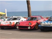 4x Lancia Stratos, Costa Brava Rally, Lloret de Mar, Spain.