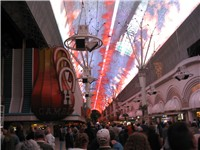 Downtown Las Vegas: The Fremont Street Experience outside of Binion's Horseshoe Casino