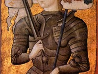 Joan of Arc -- painting from between 1450 and 1500. Joan of Arc helped drive the English occupying f