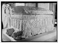 Sarcophagus of Ahiram, king of Byblos, now in the National Museum of Beirut