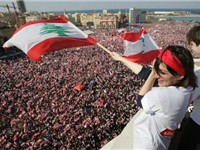 On March 14, 2005, up to one million protesters demanded an end to the Syrian occupation of Lebanon.