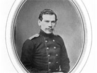 Tolstoy in military uniform, 1856
