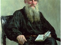 Portrait of Tolstoy in 1887, by Ilya Repin